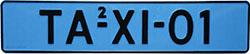 Taxi kentekenplaat