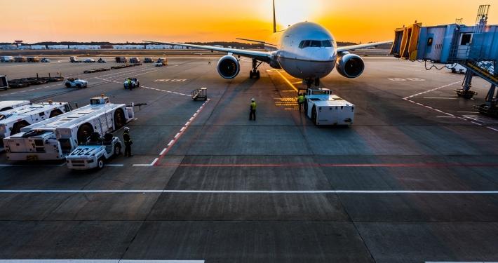 Vliegtuig-luchthaven